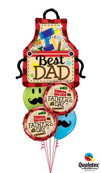Bukiet 268# - 41″ / 104cm Best Dad Apron Qualatex #23955, 24206_2, 60044_2