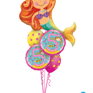Bukiet 270# - 38″ / 96cm Merry Mermaid Qualatex #16116, 24146_2, 10240_2