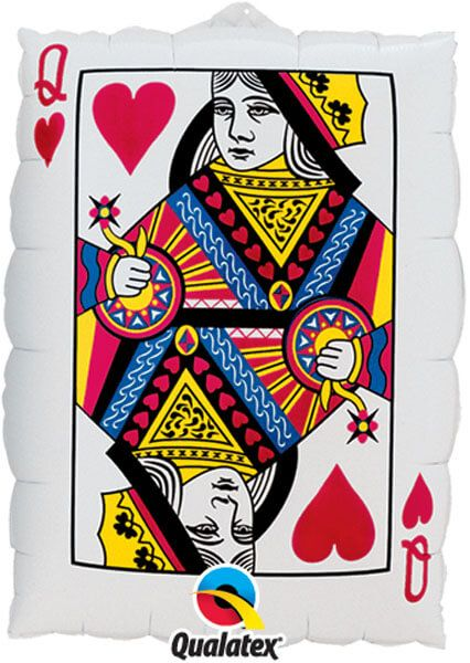"30"" / 76cm Queen Of Hearts/ Ace Of Spades Qualatex #16310"