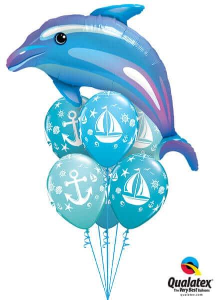 Bukiet 278# - 42″ / 106cm Delightful Dolphin Qualatex #29338, 44796_6