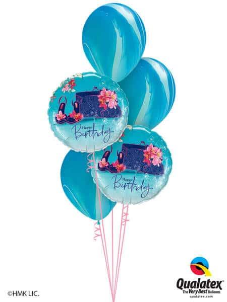 Bukiet 293# - 18″ / 46cm Birthday Shoes & Handbag Qualatex #45362_2, 91538_3