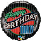 "18"" / 46cm Birthday Dad Stripes Qualatex #25576"