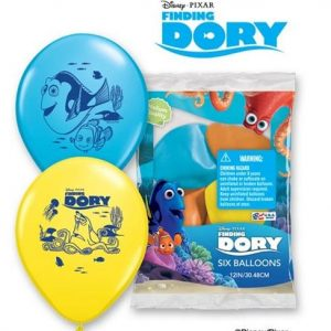 "11"" / 28cm 6ct / 6szt Disney Pixar Dory & Friends Qualatex #45534"