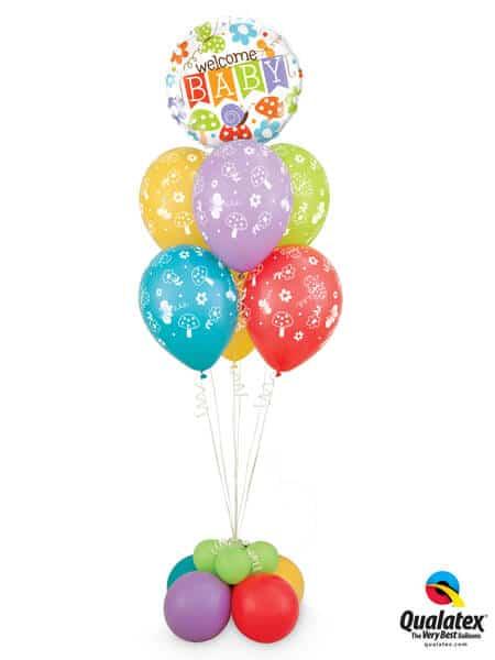 Bukiet 311# - 18″ / 45cm Welcome Baby Banner Garden Qualatex #25210, 44791_6, 17747_4