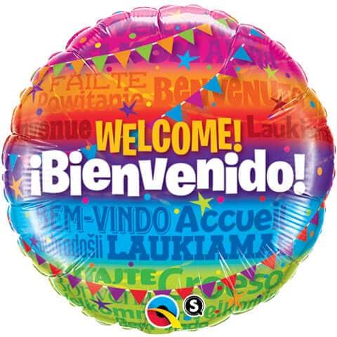 """18"""" / 46cm Welcome! Bienvenido Qualatex #14815"""