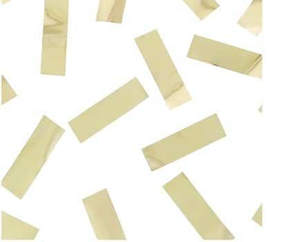 12g Konfetti prostokątne, dwustronnie kolor metal złoty #KPDK-RK