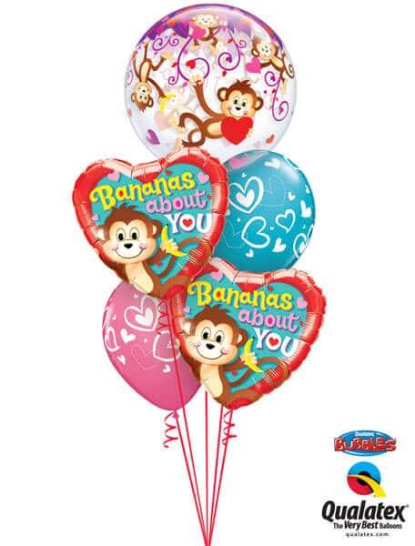 Bukiet 330# - 22″ / 56cm Love Monkeys #40193, 21841_2, 40863_2