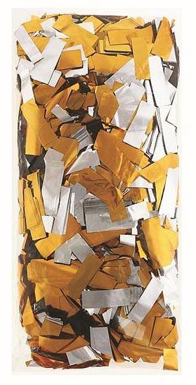 12g Konfetti prostokątne, dwustronnie metal różne kolory #KPSR-RK