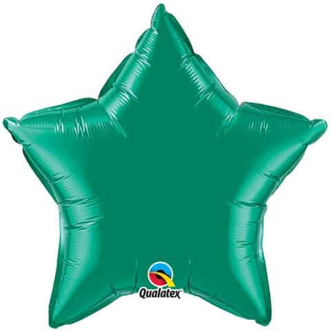 "20"" / 51cm Solid Colour Star Emerald Green Qualatex #99654"
