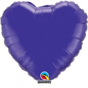 "18"" / 46cm Solid Colour Heart Quartz Purple Qualatex #99645"