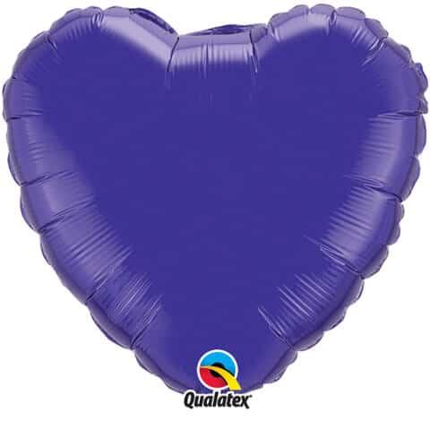 "18"" / 46cm Solid Colour Heart Quartz Purple Qualatex #99645"