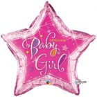 "36"" / 91cm Welcome Baby Girl Stars Qualatex #16577"