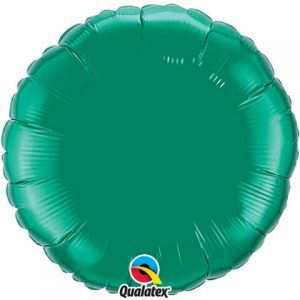 "18"" / 46cm Solid Colour Round Emerald Green Qualatex #99642"