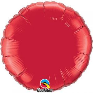 "18"" / 46cm Solid Colour Round Ruby Red Qualatex #99582"
