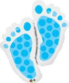 "35"" / 89cm Baby Feet Blue Qualatex #25851"