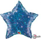 "20"" / 51cm Holographic Solid Colour Star Jewel Blue Qualatex #41284"