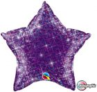 "20"" / 51cm Holographic Solid Colour Star Jewel Purple Qualatex #41309"