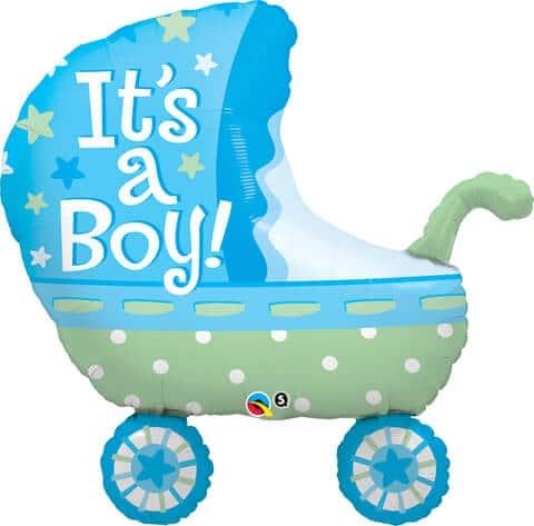 35″ / 89cm It's A Boy Baby Stroller Qualatex #43285