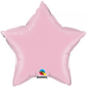 "20"" / 51cm Solid Colour Star Pearl Pink Qualatex #28360"