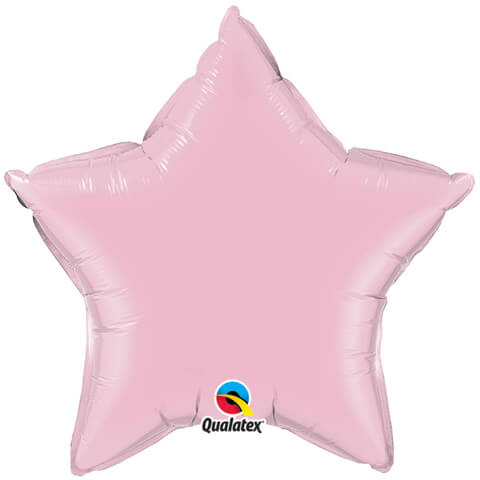 """20"""" / 51cm Solid Colour Star Pearl Pink Qualatex #28360"""