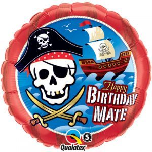 "18"" / 46cm Birthday Mate Pirate Ship Qualatex #11767"