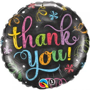 "18"" / 46cm Thank You Chalkboard Qualatex #11826"