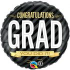 "18"" / 46cm Congratulations Grad Stripes Qualatex #12330"