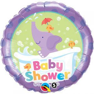"18"" / 46cm Baby Shower Elephant Qualatex #13912"