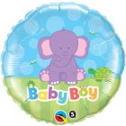 "18"" / 46cm Baby Boy Elephant Qualatex #13916"