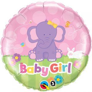 "18"" / 46cm Baby Girl Elephant Qualatex #13929"