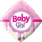"18"" / 46cm Baby Girl Dots & Stripes Qualatex #14400"