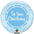 "18"" / 46cm On Your Christening Boy Qualatex #14433"