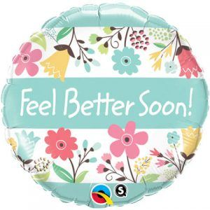 "18"" / 46cm Feel Better Soon! Floral Qualatex #16983"