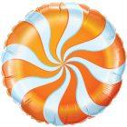 "18"" / 46cm Candy Swirl Orange Qualatex #17360"