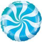 """18"""" / 46cm Candy Swirl Blue Qualatex #17362"""