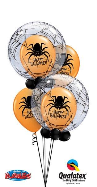"""Bukiet 357# - 22"""" / 56cm Deco Bubble - Spider""""s Web Qualatex #17392_2, 19959_2"""