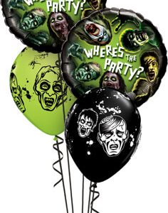 "Bukiet 361# - 18"" / 46cm Zombie Party Qualatex #18154_2, 20004_3"