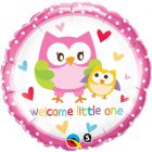 "18"" / 46cm Welcome Little One Owls Qualatex #18436"