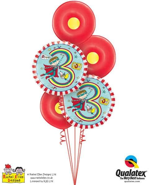Bukiet 351# – 18″ / 46cm Rachel Ellen- Age 3 Super Hero Stripes #23848_2, 18625_3