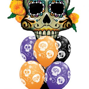 "Bukiet 358# - 38"" / 96cm Day Of The Dead Skull Qualatex #44228, 47347_6"