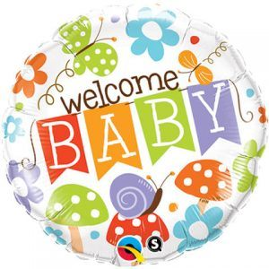 "18"" / 46cm Welcome Baby Banner Garden Qualatex #25210"