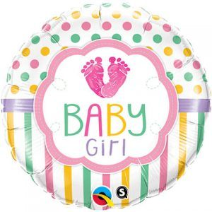 "18"" / 46cm Baby Girl LO(Feet)E Qualatex #25746"