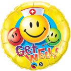 """18"""" / 46cm Get Well Smiley Faces Qualatex #29624"""