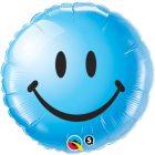"""18"""" / 46cm Smile Face Blue Qualatex #29640"""