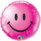 """18"""" / 46cm Smile Face Wild Berry Qualatex #29864"""