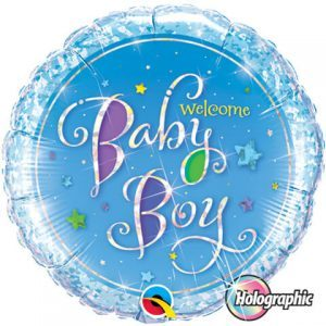 "18"" / 46cm Welcome Baby Boy Stars Qualatex #35312"