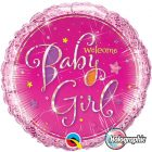 "18"" / 46cm Welcome Baby Girl Stars Qualatex #35316"