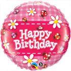 "18"" / 46cm Birthday Ladybugs & Daisies Qualatex #36445"