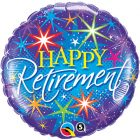 "18"" / 46cm Retirement Colourful Bursts Qualatex #37932"