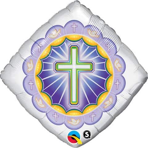 """18"""" / 46cm Illuminated Cross Qualatex #41367"""